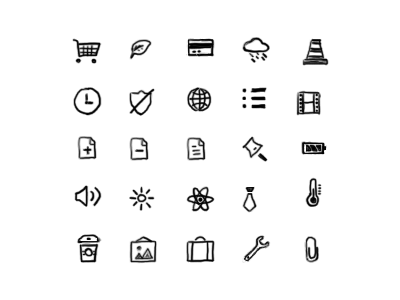 New Hand Drawn Icons 1.2