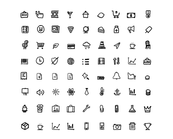 New Hand Drawn Icons
