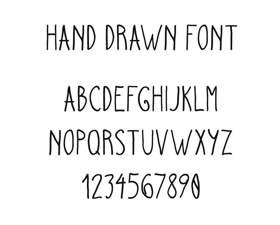pretty fonts to draw