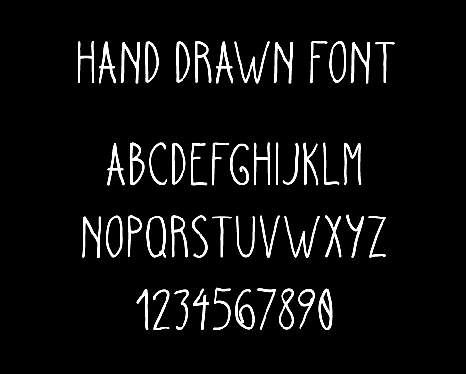 Hand Drawn Font Demo